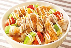 豚肉とアボカド丼