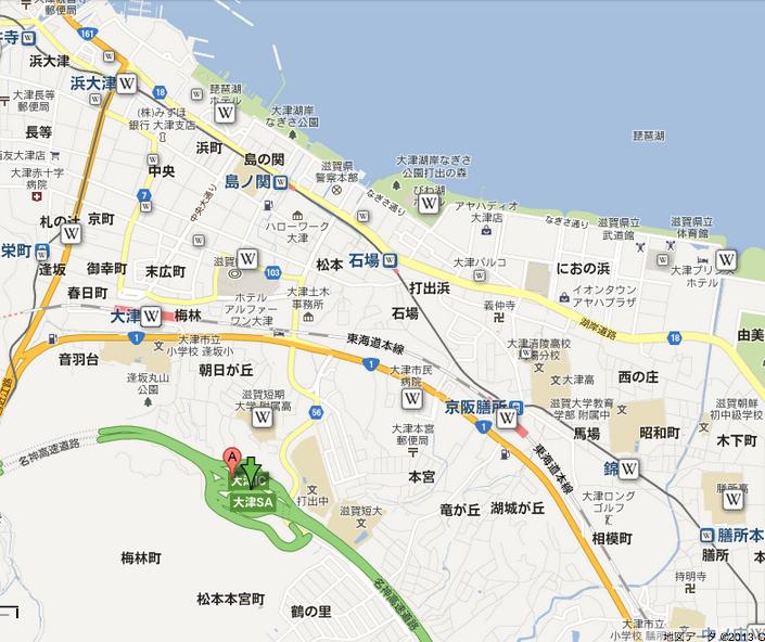 琵琶湖花火大会2013穴場大津サービスエリア