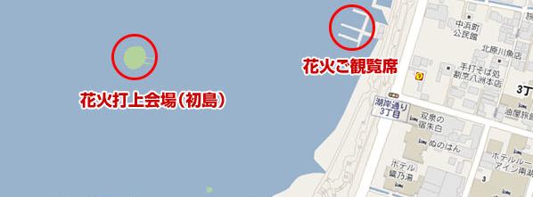 諏訪湖花火初島